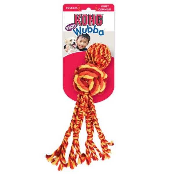 KONG Wubba Weave con cuerda 2