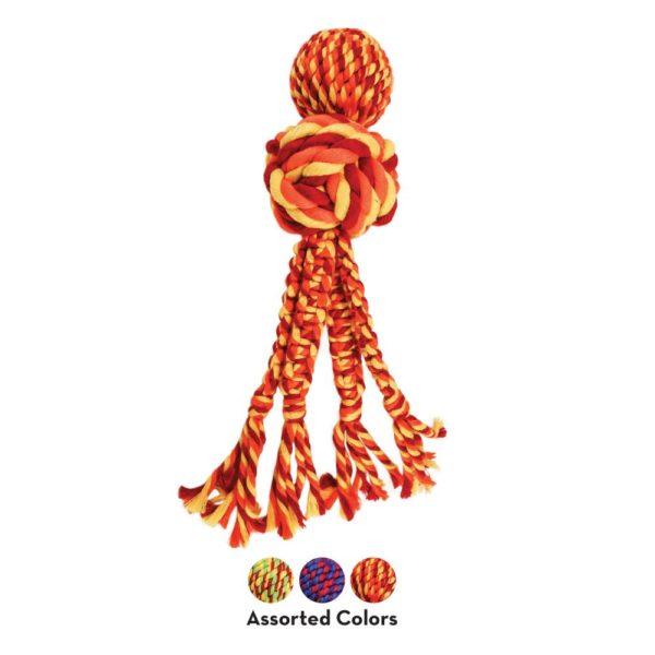 KONG Wubba Weave con cuerda 1