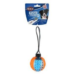 pelota con cuerda para perros